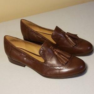 Nine West Brown Ariel Tassel Loafers
